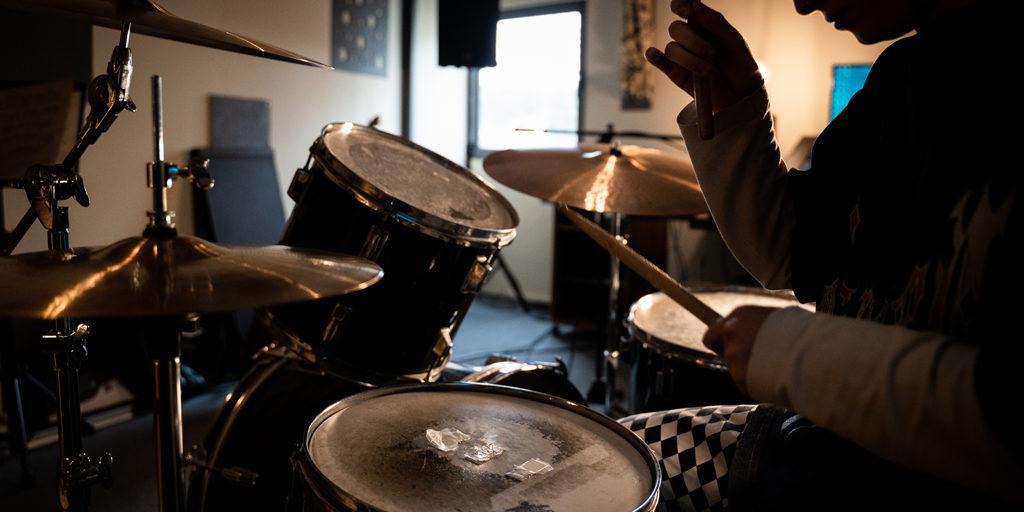 sala prove batteria batterista