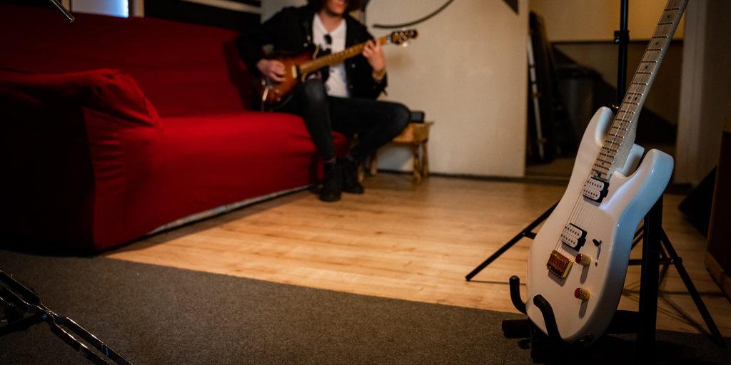 sala prove urban records chitarra