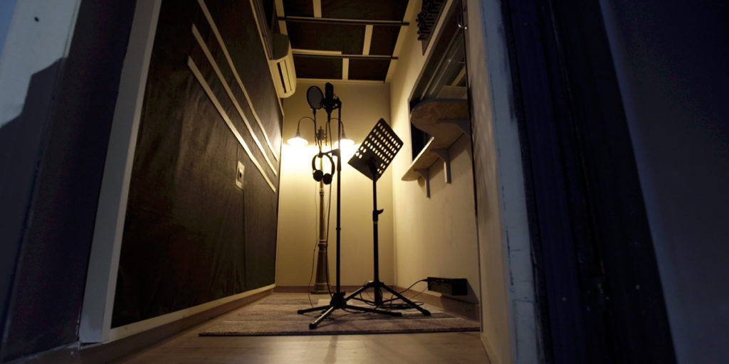 urban studio perugia sala ripresa microfono leggio